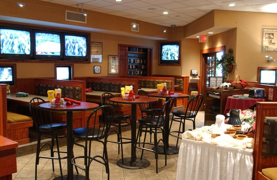 Legends Sports Bar and Grille : Legends Restaurant has plenty of seating and with over 30 TV's there is never a bad seat to watc