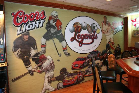 Legends Sports Bar and Grille : Legends is a fan of all sports!