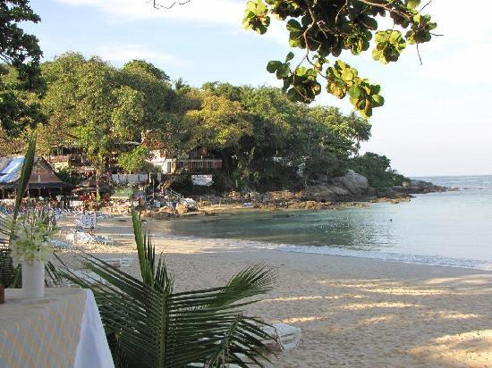 The Boathouse Phuket: Early morning beach looking to the Ska Bar