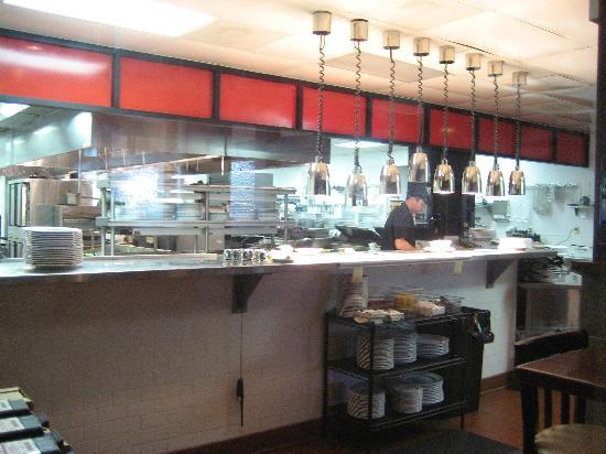 Burtons Grill: Their magical (and very clean) kitchen.