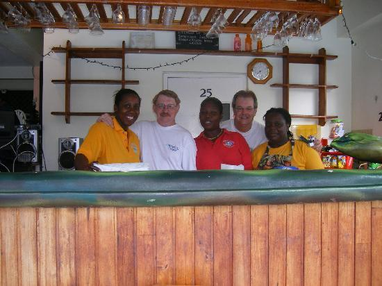 Manta Lodge: Some staff, some visitors