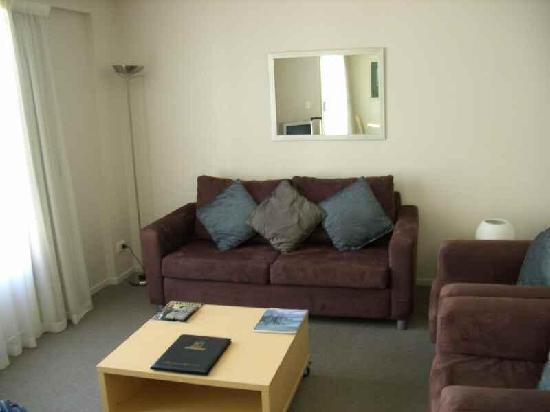 Quest Christchurch : Wohnzimmer