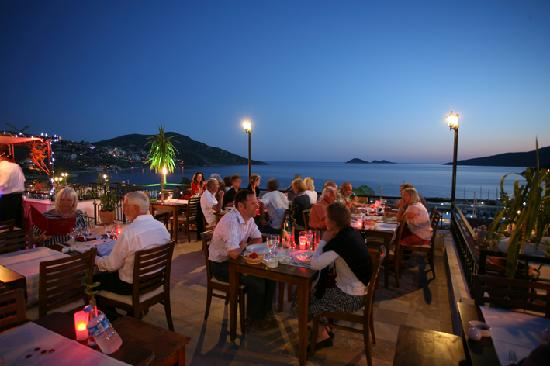 The nar bar and restaurant kalkan restaurant reviews for Restaurant with terrace