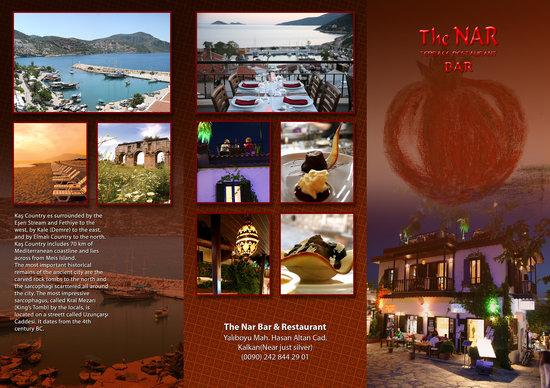 The Nar Bar and Restaurant: nar restaurant terrace leaflet