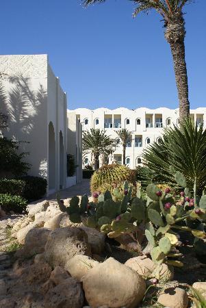 Radisson Blu Ulysse Resort & Thalasso Djerba: Garten zwischen Hotel und Poolanlage