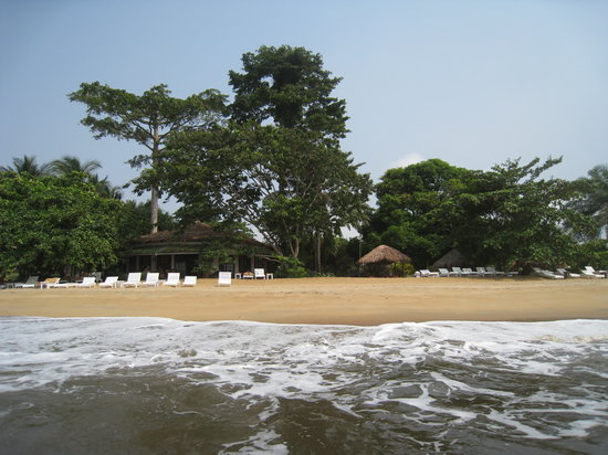 Kribi, Camerún: Bar de l'hotel