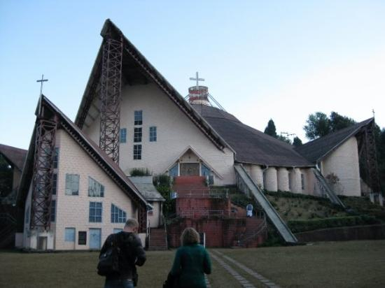 Kohima cathedral (the biggest in Asia) - build by the Japanese as a compensation for what they d