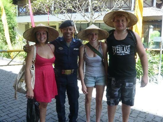 Melasti Legian Beach Resort & Spa: With security at the front gate