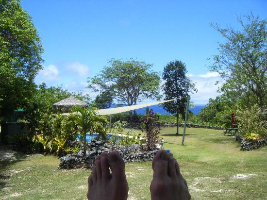 Namukulu Cottages & Spa: view from our cottage balcony (No2)