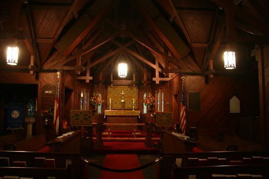 Saint Simons Island, Geórgia: Christ Church - beautiful wood interior
