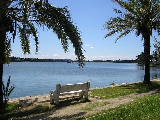 Alcudia, İspanya: Lake in hotel grounds