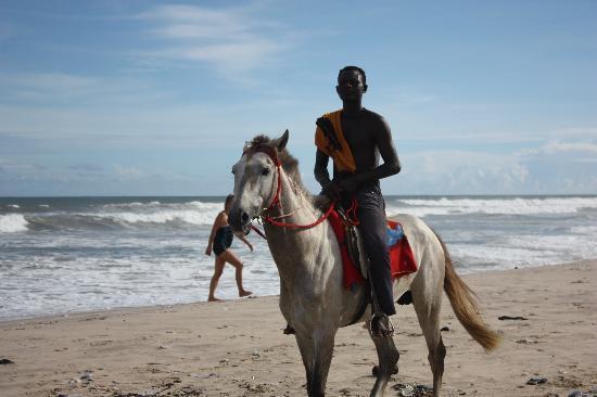 Labadi Pleasure Beach: Horse Guy & a Dirty Beach!