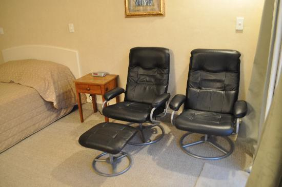Palmerston North, Yeni Zelanda: leather armchairs in the room