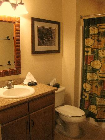 Holiday Inn Club Vacations Smoky Mountain Resort: Guest bathroom of the 2-Bedroom unit