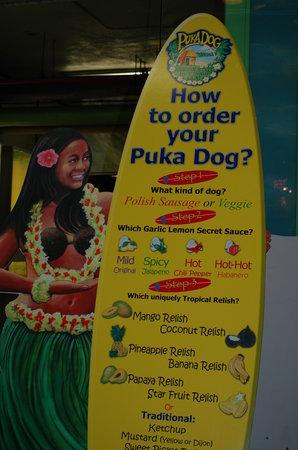 Hula Dog Hawaiian Style Hot Dogs : Menu