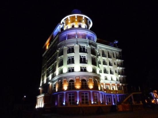 Listvyanka building lit up