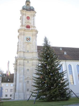The church at St. Gallen. Day 3. When we went there 2 days prior, the tree wasn't set up yet.