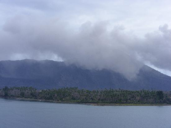 Volcano arriving into Rabaul