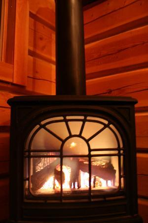 Mount 7 Lodges: fireplace