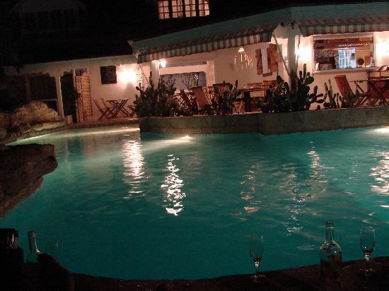 """Hostellerie des Chateaux: La nuit dans la piscine autour """"d'un"""" verre"""