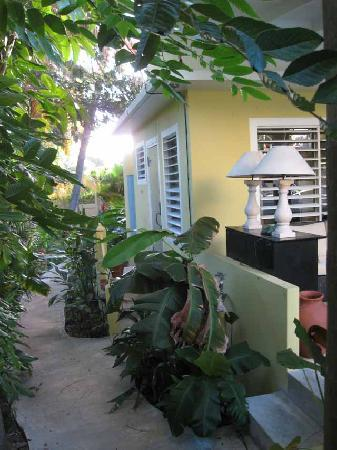 Palm Cottages: Pool Cottage Entry