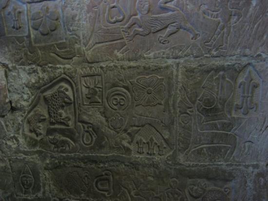 Carlisle - Le château, fresque médiévale