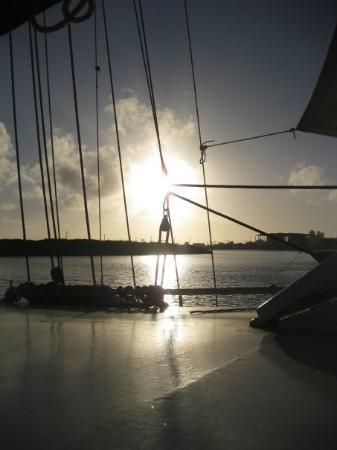 Fortaleza, CE : Solen går allerede ned ved 6-tiden, men vi nyder solnedgangene.