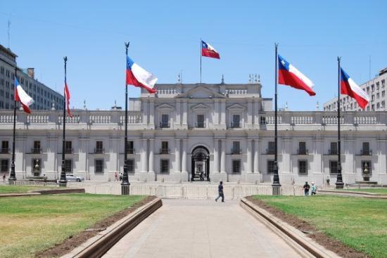 Santiago de chile la casa de gobierno la moneda der for Casas en chile santiago