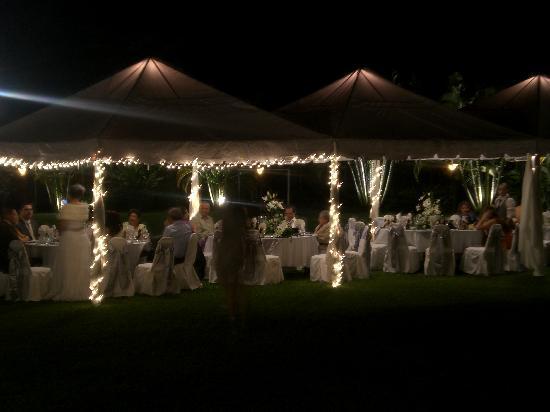 Clarion Copan Ruinas: Wedding tents!