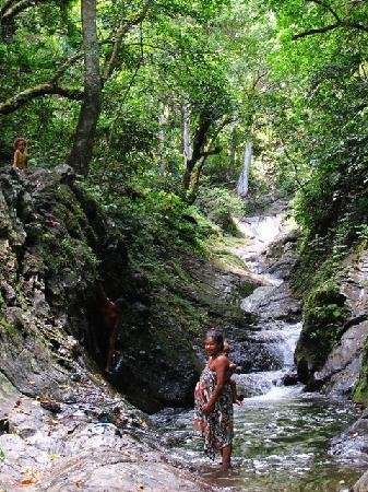 Taveuni Island, Fiji: Natural rockslide and pools