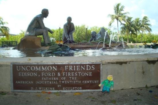 Fort Myers, FL: Edison and Friends fountain