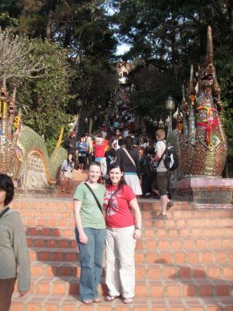 Wat Phra That Doi Suthep: Then our tour took us to the 'big temple on the hill' as we called it. Its actually called Wat S