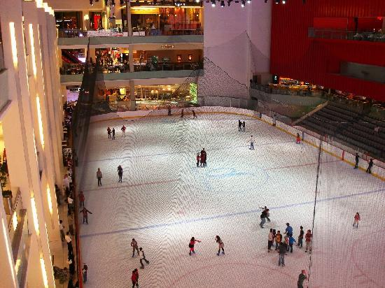 Flora Grand Hotel: Skating ring in Dubai mall