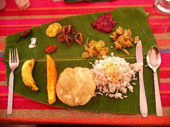 Kanjirappally, Indien: Ein Beispiel für das Essen