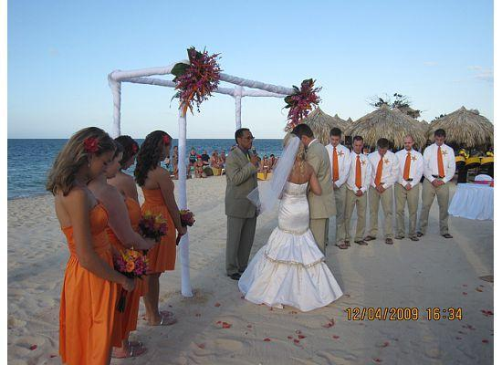 Iberostar Grand Hotel Rose Hall Wedding Party At Alter