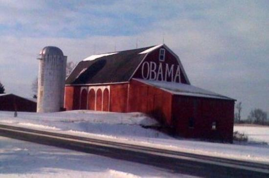 Red Barn Blue State Picture Of Detroit Michigan