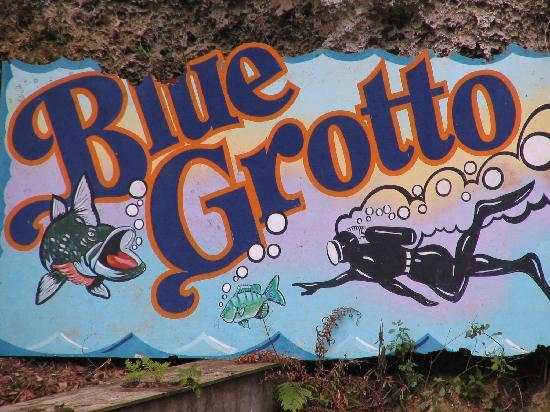 Williston, FL: Blue Grotto Sign