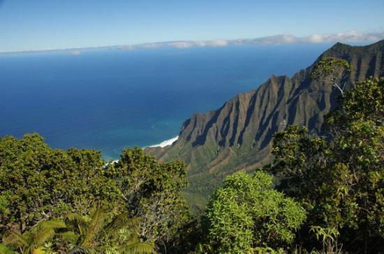 Koke'e State Park, Hawái: Napali Coast from the northern end of Waimea Canyon road.