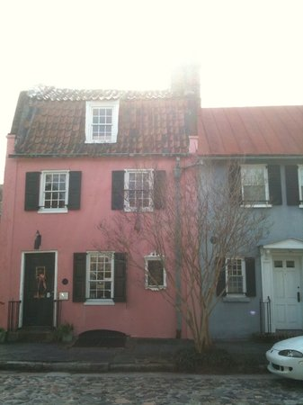 Pink House Gallery: The Pink House originally got its name from the West Indian coral stone with which it was built.