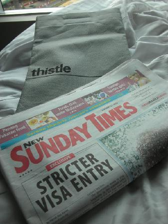 Thistle Johor Bahru: Complimentary papers