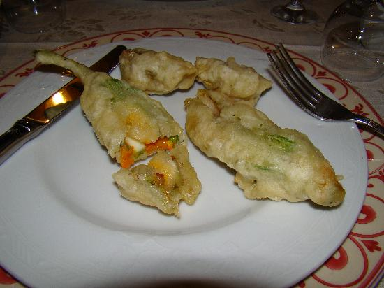 Flavor of Italy: Deep fried zucchini flowers stuffed with mozzeralla at Il Casaletto Ristaurante