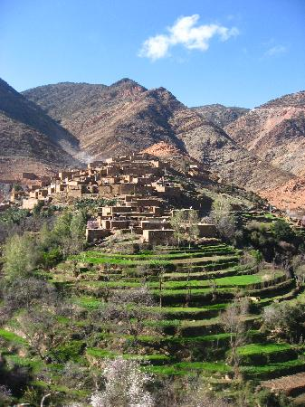 Berber Travel Adventures : Berber village seen on the one day hike