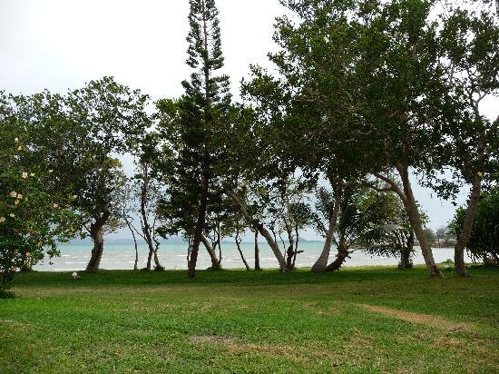 Poum, Nya Kaledonien: vue du bungalow