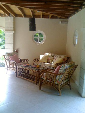 Bayfield House: outdoor sitting area for one of the rooms