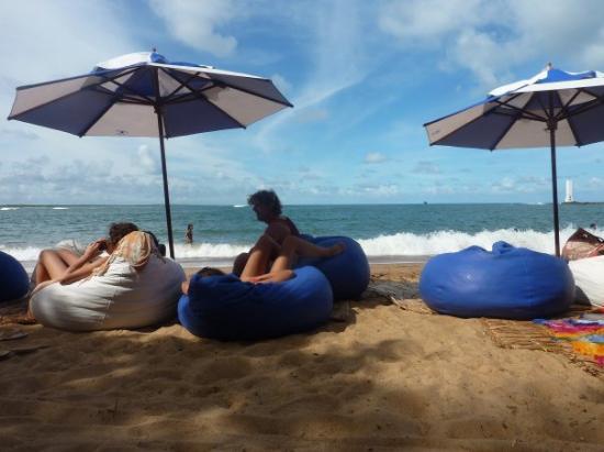 angekommen in Itacaré und gleich mal zum Chillen an Beach :-)