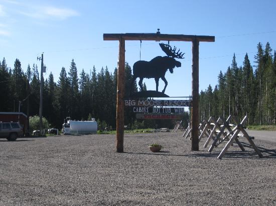 Big Moose Resort: Can't miss BIg Moose with this sign in front!