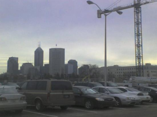 A View Of Indy From A Parking Lot At Iupui This Is