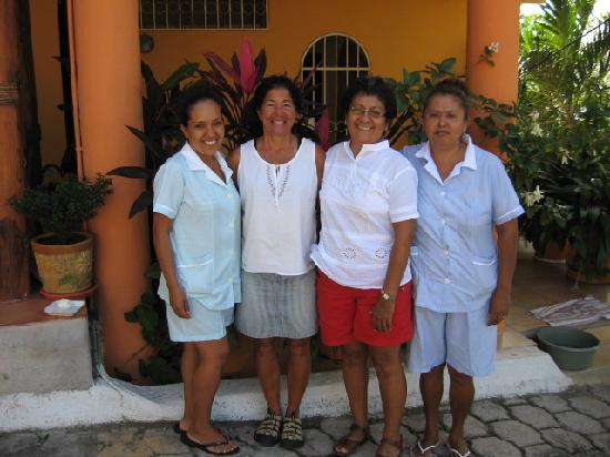 Casa Adriana: Brenda,Tina , Lucy, and Ditna.