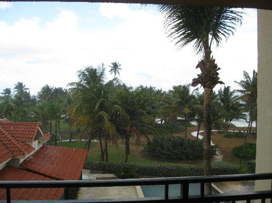 The Ocean Villas: View from our third floor balcony