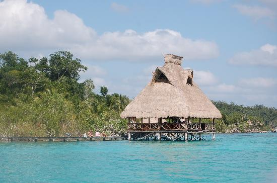 Kuuch Kaanil Villas Eco-romanticas : view to palapa/bar